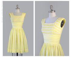 1950's dress -- waistband ruching