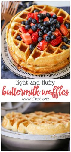 The best recipe I have found yet! Flippen What's better than a big, fluffy waffle first thing in the morning? These buttermilk waffles are your new favorite breakfast recipe—everyone will love them! Breakfast Waffles, Pancakes And Waffles, Breakfast Dishes, Breakfast Recipes, Dinner Recipes, Buttermilk Waffles, Homemade Buttermilk, Easy Buttermilk Waffle Recipe, Krusteaz Waffle Recipe