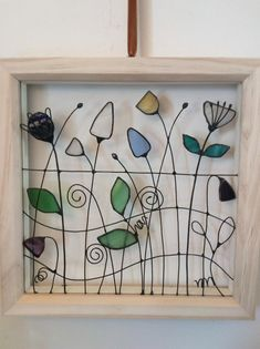 Wildflower Meadow Framed Stained Glass and Wire Window Decoration Wildflower Meadow Vetrata incorniciata e finestra di filo metallico Etsy Stained Glass Cookies, Stained Glass Light, Stained Glass Flowers, Stained Glass Designs, Stained Glass Projects, Stained Glass Patterns, Harvest Moon, Tiffany, Glass Wall Art