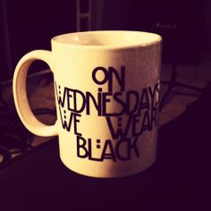 ON WEDNESDAYS WE WEAR BLACK COFFEE MUG! american horror story the coven witch