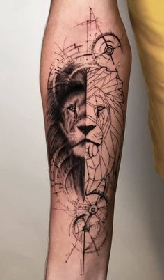 Sleeve and Hand Tattoos . Sleeve and Hand Tattoos . Pin by Samra Says On Tattoo Ideas 3 Hand Tattoos, Lion Hand Tattoo, Lion Tattoo Sleeves, Mens Lion Tattoo, Leo Tattoos, Forearm Tattoos, Cute Tattoos, Body Art Tattoos, Tattoos For Guys