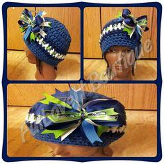 Crochet Seattle Seahawks Beanie on Etsy, $25.00