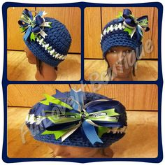 02fcd0fd3 Crochet Seattle Seahawks Beanie by FulLoveItBoutique on Etsy