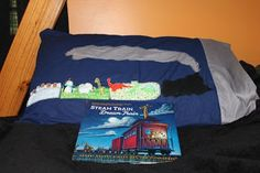Steam Train Dream Train book craft with pillowcases by Happy Birthday Author: Happy Birthday Sherri Duskey Rinker - August 4