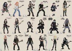 Metalheads #caricatures #guitars \m/