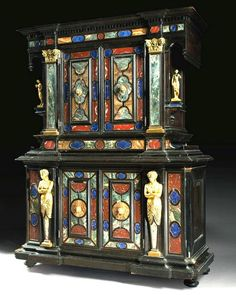 51BidLive-[18/19th Cen. Important Rare Large Italian Cabinet]