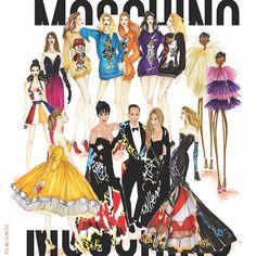 @moschino's recap 💕 .  Illustration by #franiorio #moschino #itsjeremyscott .  @itsjeremyscott  #fashionillustration #art  #newyork  #paint #painting #fashionsketching #drawings #love  #fashiondesigner  #fashionweek  #wip  #sketch #fashionista  #sketchaday #stellamaxwell  #girl #fashionsketch  #gigihadid  #stretching  #illustration #fashiondrawing #fashionista #fashionsketchin #katyperry