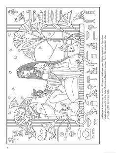 Goddess coloring page - Bastet (Egypt)