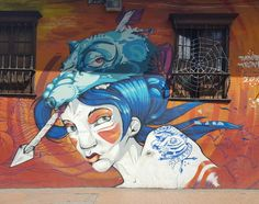 Awesome mural in Bogotá`s old town by Dabuten Tronko. Check out Colombia`s street art scene with the Booee app!