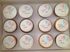 Zwangerschaps aankondiging. Cupcakes