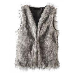 Faux Fur Black & White Vest