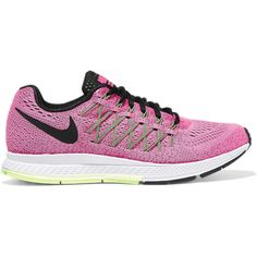 Nike Air Zoom Pegasus 32 mesh sneakers (193 265 LBP) ❤ liked on Polyvore featuring shoes, sneakers, bright pink, lace up shoes, laced shoes, rubber sole shoes, nike footwear and mesh shoes