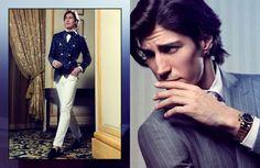 Oriol Elcacho, Spanish model, b. 1979, Barcelona