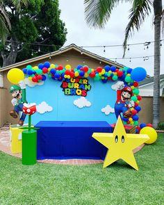 Confetti and Sprinkles Super Mario Birthday, Mario Birthday Party, 5th Birthday Party Ideas, Super Mario Party, Super Mario Bros, Birthday Party Decorations, 7th Birthday Boys, Super Mario Cake, Mario Y Luigi