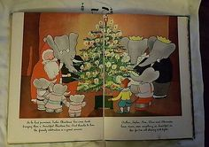 Babar And Father Christmas Jean De Brunhoff 1940, 1st,Children's, Illustrated