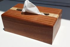 Hand Made Tissue Box Wooden Box For Tissues by WOODNTHINGSBYFRANK, $25.00