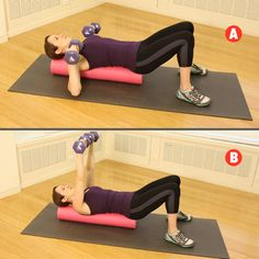 bench workout, roller workout, bench press, foam roller exercises