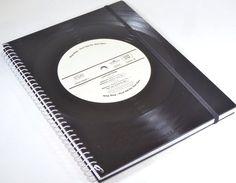 DIN A5 -  Notizbuch aus Schallplatte upcycling - ein Designerstück von Aurum bei DaWanda