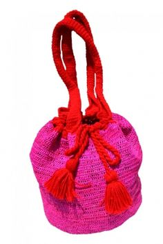 HIPPIE BEACH BAG by PRYMAL   100% handmade   Toquilla Straw + Wool