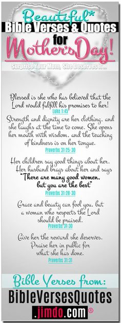 Bible Verses for Mothers - Bible Verse Quotes on EVERY TOPIC You Can Imagine...