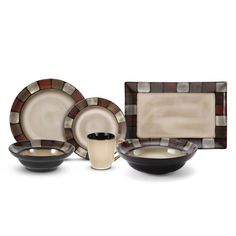 Pfaltzgraff® Everyday Taos 32 Piece Dinnerware Set With Vegetable Bowl and Platter