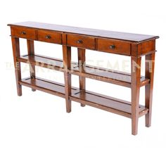 Rustic Modern Console Table Clean, Sleek Lines And Plenty Of Shelves To  Display Your Favorite