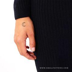 Crescent Moon Outline Temporary Tattoo (Set of – Small Tattoos Nails Moon, Toe Nail Art, Acrylic Nails, Small Moon Tattoos, Tattoo Set, Orange Nails, Future Tattoos, Meaningful Tattoos, Tatoo