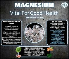 Benefits Of Magnesium by Eating Amazingly Healthy Recipes  http://www.GreatRecipeTips.com/benefits-magnesium/
