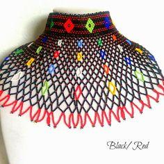 Choker beaded jewelry. Choker Necklace. South African beaded Necklace. African jewelry. Www.femmesroyales.com