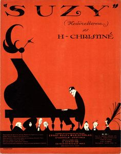 Illustrated Sheet Music Covers by Einar Nerman - 50 Watts