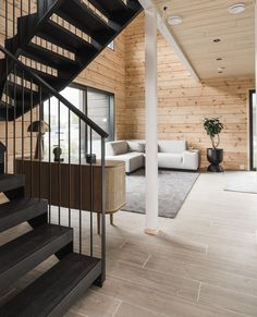 The industrial look of the LOFT stair is a mix of old and new.  LOFT stairs can be made straight or U-shaped with a landing. The frame of the stairs is made of steel, which can be painted in a shade suitable for the target. Loft Staircase, Modern Staircase, Stairs, Old And New, Pure Products, Landing, Furniture, Target, Industrial