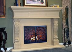 stone fireplace surrounds Bistro cast stone fireplace surround