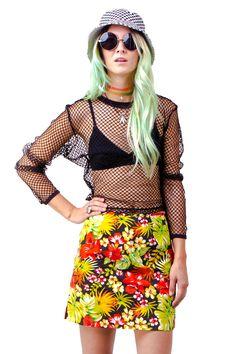 Floral Mini Skirt - XS/S/M