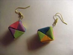 this video will show you how to make decorative origami cube earrings