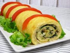ULlámame Fresh Rolls, Sushi, Side Dishes, Omelettes, Ethnic Recipes, Food, Ham And Cheese, Recipes With Vegetables, Appetizers