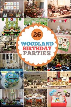 Woodland Party Ideas #woodlandparty #birthday #partyideas