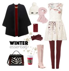 """More winter please"" by nurulbdryh on Polyvore featuring Dickins & Jones, RED Valentino, Burberry, Gianvito Rossi, Mark & Graham, Kate Spade, Mulberry and Missguided"
