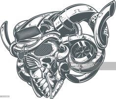Arte vectorial : metal turbo DEMONIO