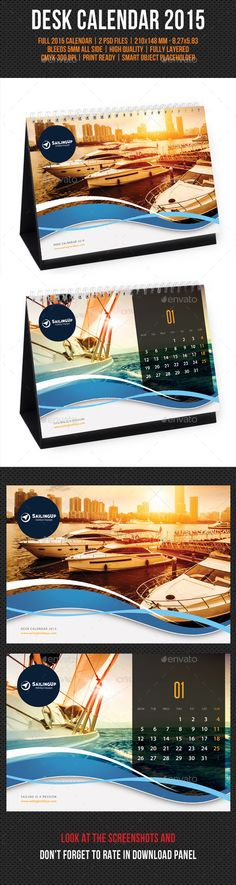 Creative Desk Calendar 2015 Template | Buy and Download: http://graphicriver.net/item/creative-desk-calendar-2015-v08/9753481?ref=ksioks