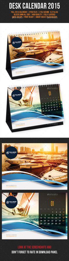 Creative Desk Calendar 2015 Template | Buy and Download: http://graphicriver.net/item/creative-desk-calendar-2015-v08/9753481?ref=ksioks