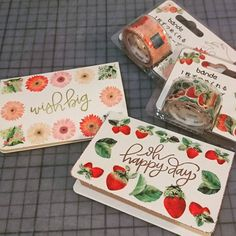 7 個讚,1 則留言 - Instagram 上的 Audrey L.(@angelaudree):「 #BANDE #washitape #cardmaking with #mftstamps sentiment #stamps 」