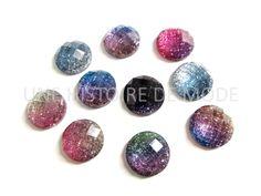 10 cabochons ronds en résine glitter mixtes et aléatoires - 12 mm - cabochon strass 12 mm : Cabochons, demi-perles par une-histoire-de-mode