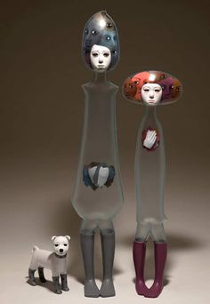 Korean artistJin Young Yufabricates poignant plastic sculptures that mirror both her adolescent emotions and adult personality. To capture thes