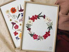 Diy Fleur, Fleurs Diy, Pressed Flower Art, Flower Frame, Flower Cards, Decoration, Wall Art Decor, Easy Crafts, Spring