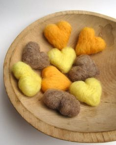 felt hearts - havent' seen this anywhere yet