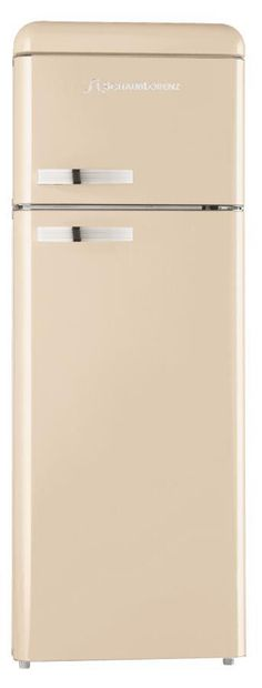 Don't like screaming colours? Go for this cream Schaub Lorenz refrigerator with built-in freezer!