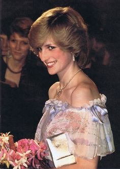 December 2, 1982: Princess Diana at the premiere of the film 'Gandhi' in at the Odeon Cinema, Leicester Square.