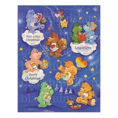 1 Vintage Care Bears Christmas Holiday Sticker by blacktulipshop, $5.00