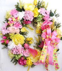Spring Wreath Easter Wreath Mother's Day Wreath by WreathbyHH