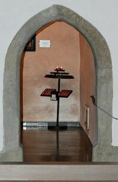 Eingang zur Marienkapelle in St. Gallus, Rockenberg